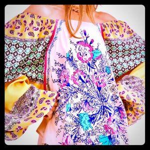 NWT Free People Gorgeous Positano Floral Top